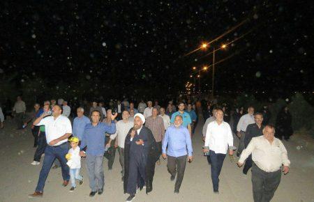 پیاده روی تمرینی حجاج یزد در مجتمع کاریزلند