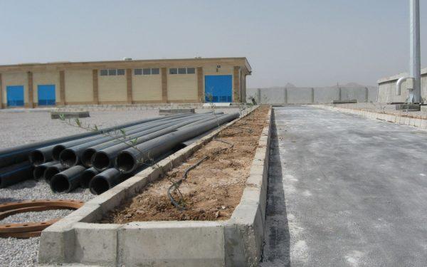 عملیات اجرایی مخزن 5000 مترمکعبی و ایستگاه پمپاژ شماره سه