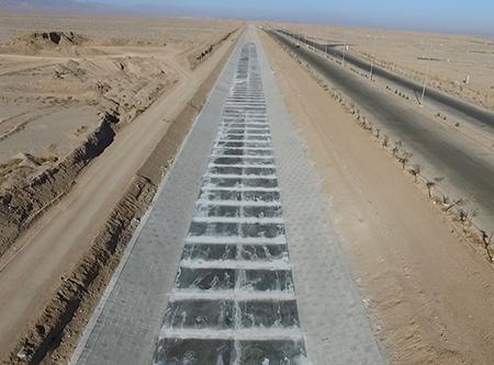 احداث ابنیه فنی و کانال بتنی پایین دست قطعه ۳ سیل بند شهر یزد