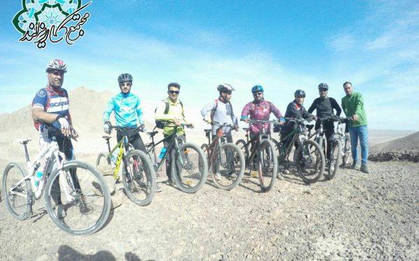 ثبت مسیر دوچرخه سواری پارک ۱۲۰۰ هکتاری کاریزبوم با حضور میدانی دوچرخه سواران یزدی