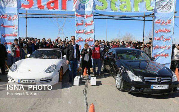 موسسه کوثر میزبان مسابقات اتومبیل رانی شتاب چندجانبه/ جدال 80 راننده اتومبیل رانی در درگ 400 متر مجتمع کاریزبوم